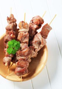 Pork skewersの写真素材 [FYI00656597]