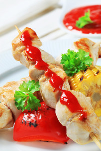 Chicken skewersの写真素材 [FYI00656605]