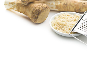 grated horseradish rootの写真素材 [FYI00656619]