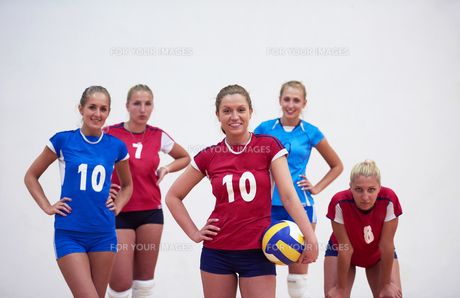 volleyball  woman groupの写真素材 [FYI00656820]