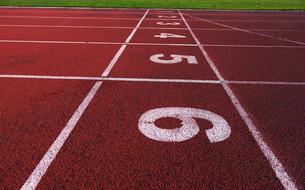 athletic trackの写真素材 [FYI00656821]