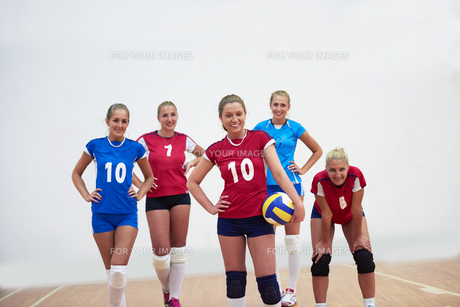 volleyball  woman groupの写真素材 [FYI00656824]