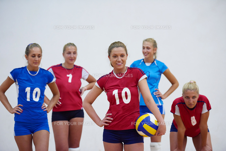 volleyball  woman groupの写真素材 [FYI00656825]