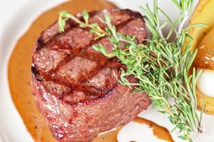 beef steakの写真素材 [FYI00656926]