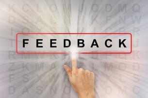 hand clicking feedback wordの写真素材 [FYI00657009]