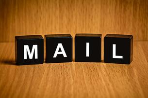 mail word on black blockの素材 [FYI00657011]