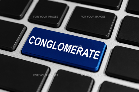 business conglomerate button on keyboardの素材 [FYI00657014]