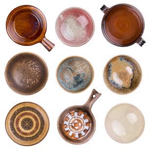 Empty bowlsの写真素材 [FYI00657355]