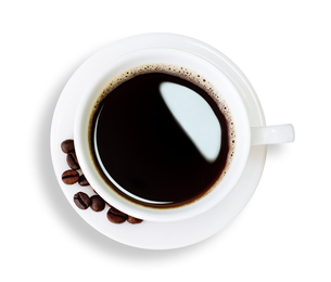 hot coffee isolated clipping path insideの写真素材 [FYI00657431]