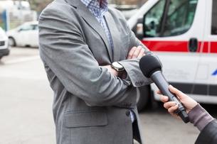 Media interviewの写真素材 [FYI00657776]