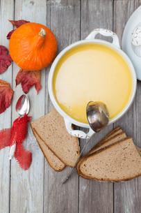 pumpkin soup setの写真素材 [FYI00657910]