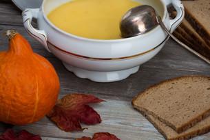 pumpkin soup setの写真素材 [FYI00657911]