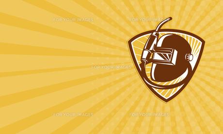 Business card Welder Visor And Welding Torch Retro Shieldの素材 [FYI00657956]