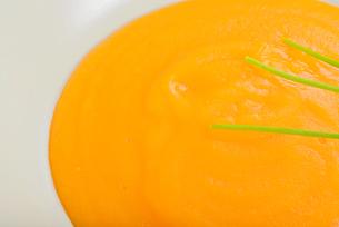 Delicious healthy pumpkin cream soupの写真素材 [FYI00658140]
