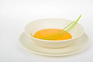 Delicious pumpkin cream soupの写真素材 [FYI00658141]