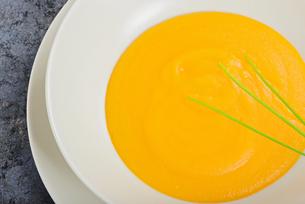 Delicious pumpkin cream soupの写真素材 [FYI00658144]