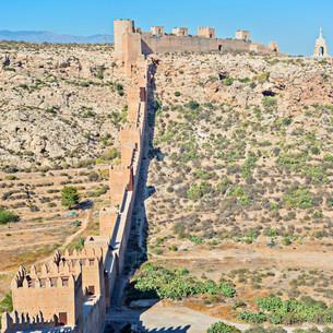 Moorish Castle, Almeria, Andalusia, Spainの写真素材 [FYI00658149]