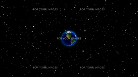 Planet Earth with sun in universe or space, Earth and galaxy in a nebula cloudの写真素材 [FYI00658376]
