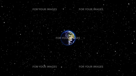 Planet Earth with sun in universe or space, Earth and galaxy in a nebula cloudの写真素材 [FYI00658392]