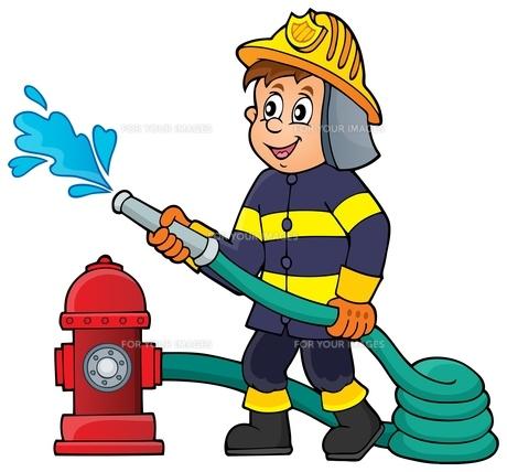 Firefighter theme image 1の写真素材 [FYI00658473]