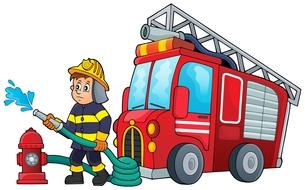 Firefighter theme image 3の写真素材 [FYI00658477]