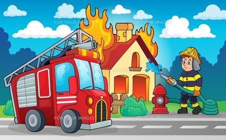 Firefighter theme image 4の写真素材 [FYI00658481]
