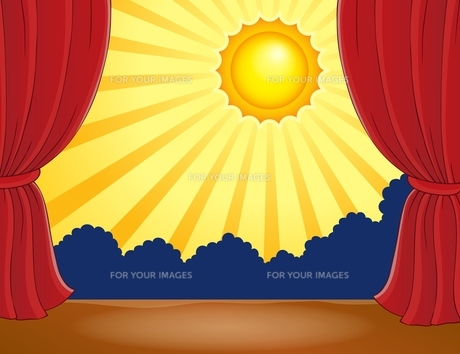 Stage with abstract sun 2の写真素材 [FYI00658487]