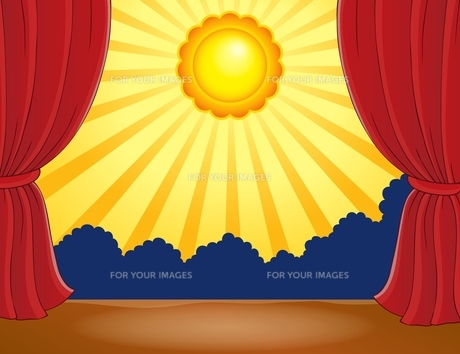 Stage with abstract sun 1の写真素材 [FYI00658506]