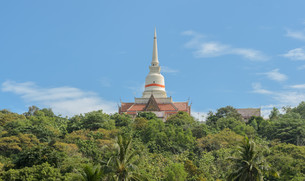 Buddhist temple in Thailandの写真素材 [FYI00658527]
