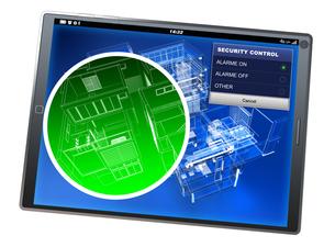 Home security control tablet appの写真素材 [FYI00658564]