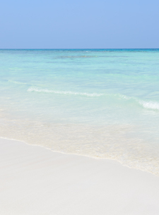 White sand beach and crystal clear waterの写真素材 [FYI00659223]