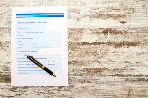 Travel insurance claim form.の写真素材 [FYI00659849]