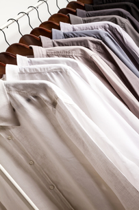 Several shirts on a hangerの写真素材 [FYI00659875]