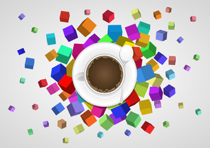 abstract coffee cupの写真素材 [FYI00660033]