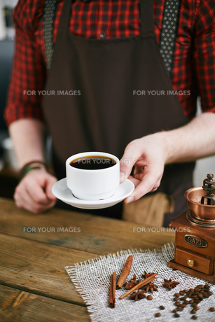 Cup of black coffeeの写真素材 [FYI00660201]