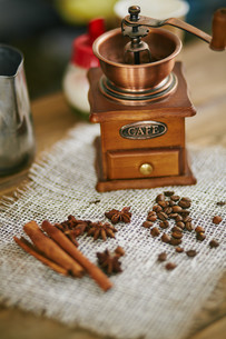 Ingredients for Turkish coffeeの写真素材 [FYI00660219]