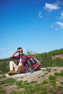 Happy travelerの写真素材 [FYI00660232]