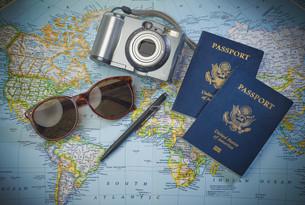 Passports to world travelの素材 [FYI00660331]