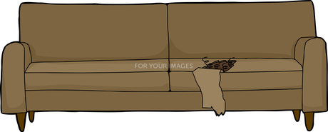 Ripped Cushion on Sofaの素材 [FYI00660577]