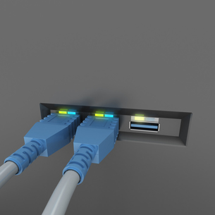 USB connectionsの写真素材 [FYI00660656]