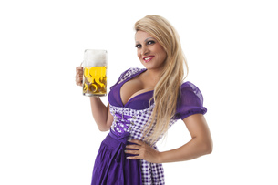 bavarian woman with a degreeの写真素材 [FYI00660675]