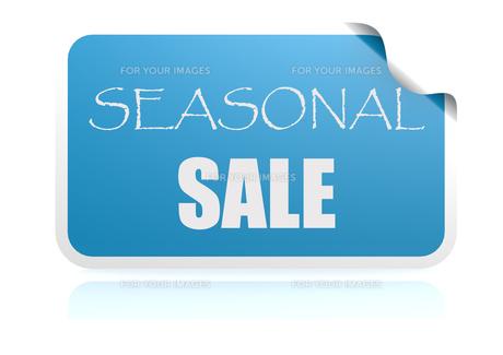 Seasonal sale blue stickerの写真素材 [FYI00660867]