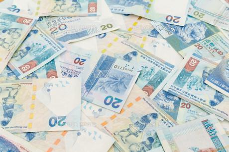 Background of Hong Kong twenty dollar billsの写真素材 [FYI00660875]