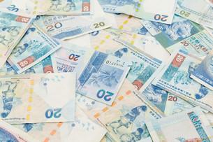 Background of Hong Kong twenty dollar billsの素材 [FYI00660875]