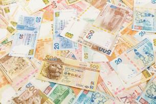 Hong Kong dollar bank notesの写真素材 [FYI00660884]