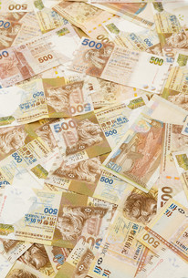 Hong Kong dollarsの写真素材 [FYI00660885]