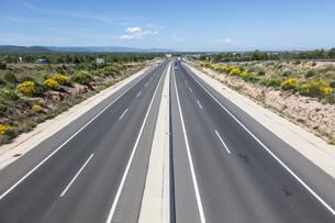 Toll motorway Autopista AP-7 (also called Autopista del Mediterraneo) in Spainの写真素材 [FYI00660930]