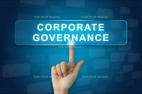 hand press on corporate governance or CG button on touch screenの写真素材 [FYI00661389]