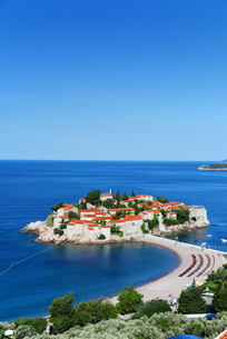 Sveti Stefan island near city of Budva, Montenegroの素材 [FYI00661426]