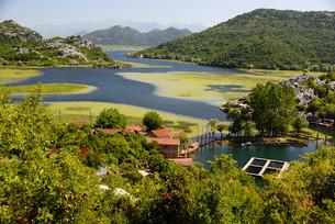 Karuc village on Lake Skadar, Montenegroの素材 [FYI00661429]
